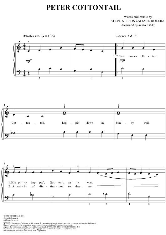Easter Sheet Music| Little Kids Instruments